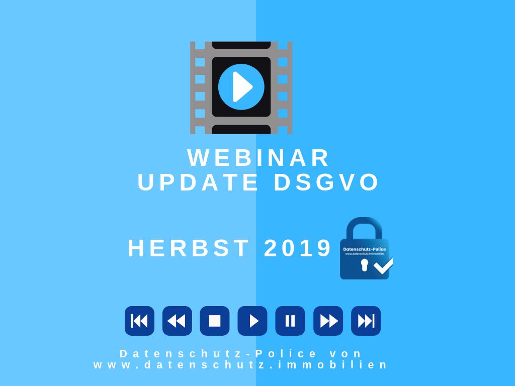 Webinarserie für Immobilienfirmen in der DSGVO