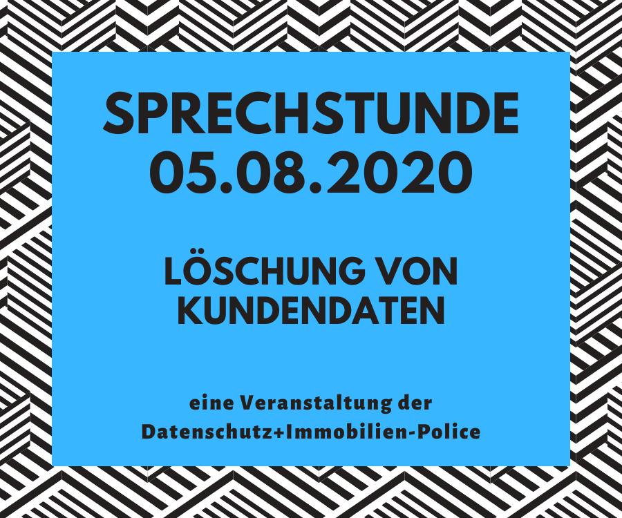 Sprechstunde DAtenschutz+Immobilien-Police