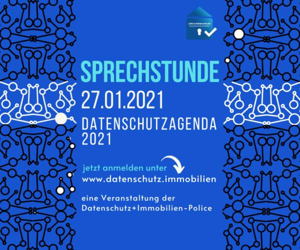 Sprechstunde Datenschutzagenda 2021