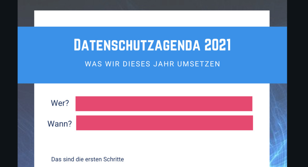 Datenschutzagenda 2021