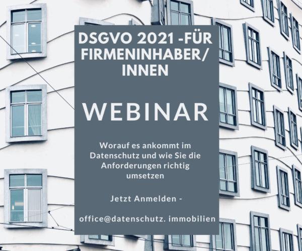 DSGVO Schulung Immobilienfirmen