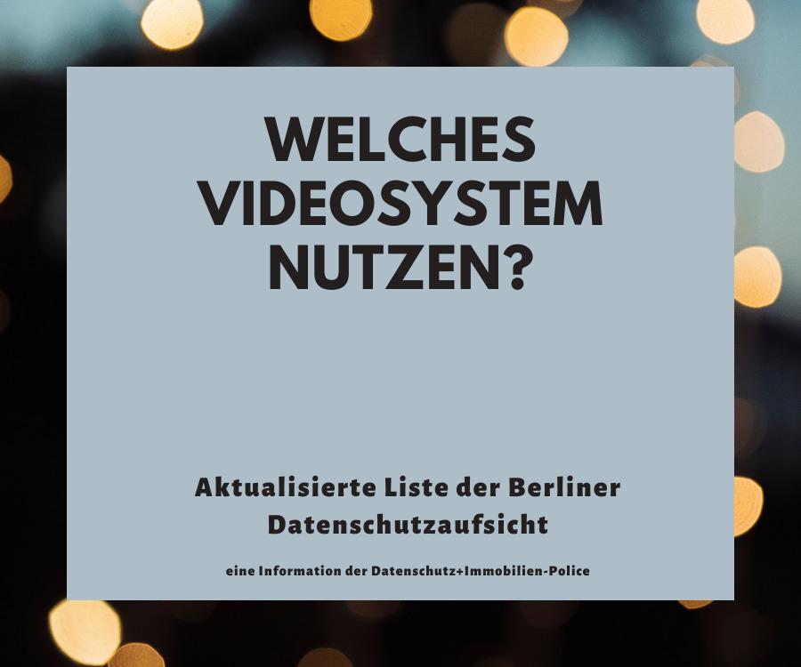 Videokonferenzsystem und DSGVO