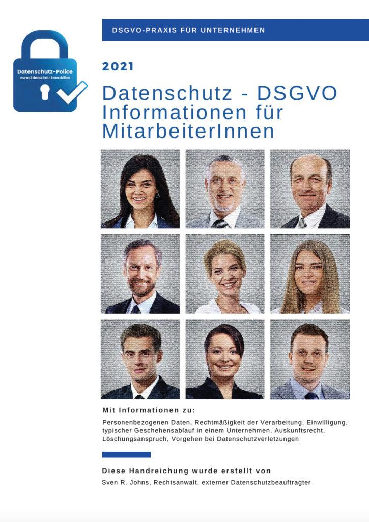 DSGVO für Mitarbeiter - Broschüre 2021